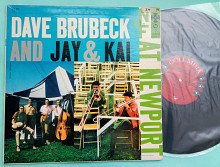 DAVE BRUBECK AND JAY & KAI AT NEWPORT 1956 / COLUMBIA 6 EYE, CL 932, mono, usa , m-/m-