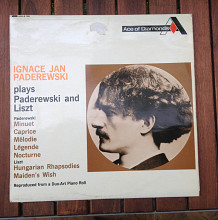 Продам Ignace Jan Paderewski ‎– Plays Paderewski And Liszt