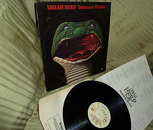 Uriah Heep Innocent Victim 1977 bronze UK BRON 504 ~ NM / NM