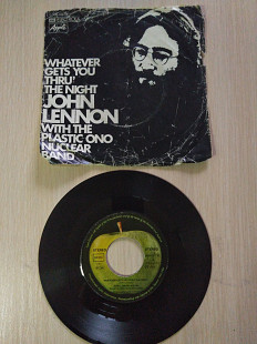 John Lennon With The Plastic Ono Nuclear Band ‎– Whatever Gets You Thru' The Night\Apple Records