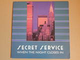 Secret Service ‎– When The Night Closes In (Sonet ‎– SLP-2770, Sweden) insert NM-/NM-