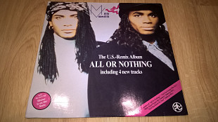 Milli Vanilli (All Or Nothing - The U.S. Remix Album) 1989. (LP). 12. Vinyl. Пластинка. Germany.