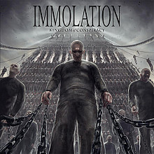 Immolation - Kingdom Of Conspiracy (Clear w/Black Splatter vinyl)