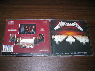 METALLICA - Master Of Puppets (1986 Music For Nations UK)