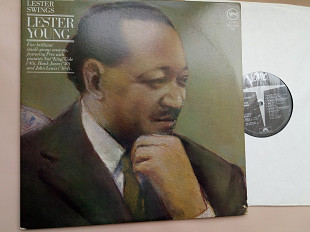 LESTER YOUNG - Lester Swings 1945-1951 , 2lp /usa , Verve m/m-