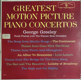 George Greeley, The Warner Bros. Studio Orchestra – Greatest Motion Picture Piano Concertos