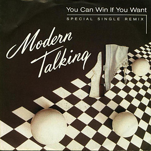 Modern Talking ‎– You Can Win If You Want (Special Single Remix) 1985. (LP). 7. Vinyl. Пластинка. Ge