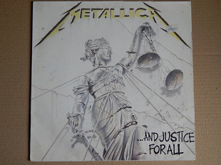 Metallica ‎– ...And Justice For All (Vertigo ‎– 836062-1, Holland) 2 insert EX/NM-/NM-