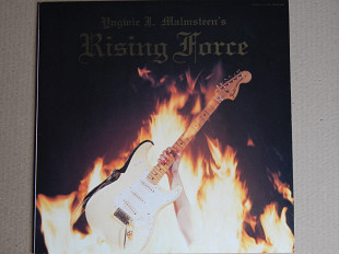 Yngwie J. Malmsteen ‎– Rising Force (Polydor ‎– 28MM 0400, Japan) insert, Poster NM/NM-