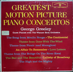 George Greele , The Warner Bros. Studio Orchestra – Greatest Motion Picture Piano Concertos