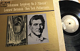Leonard Bernstein Conducts New York Philharmonic* / Schumann* - Symphony No. 3 (LP, mon)
