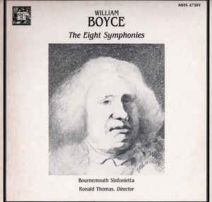 Bournemouth Sinfonietta, Ronald Thomas, William Boyce ‎– The Eight Symphonies