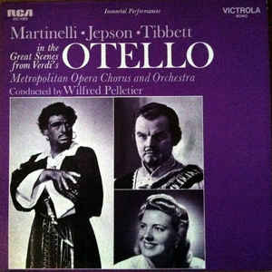 Martinelli*, Jepson*, Tibbett*, Verdi* ‎– Martinelli, Jepson, Tibbett In Great Scenes From Verdi's O