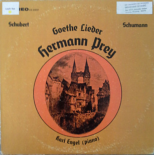 Hermann Prey, Karl Engel - Goethe Lieder (LP, Album)
