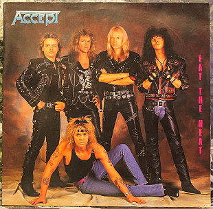 Accept ‎– Eat The Heat 1989 RCA Ger NM-/NM- insert