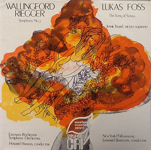 Wallingford Riegger, Lukas Foss - Symphony No. 3 / The Song Of Songs (LP)