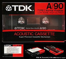TDK A (Acoustic) C90 1988 Made in Japan