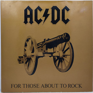 AC/DC – For Those About To Rock We Salute You LP 12""