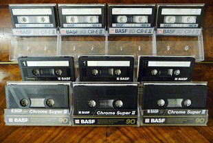 Аудио кассеты: Vintage Cassettes [Records LP] =BASF СR-E/Chrome Super II 90= (((10-шт)))