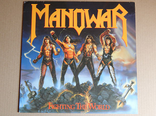 Manowar ‎– Fighting The World (ATCO Records ‎– 790 563-1, Germany) insert NM-/NM-