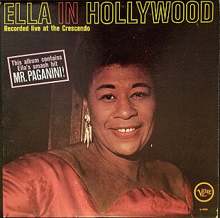 ELLA FITZGERALD Ella In Hollywood (Mono) 1961(re ?) USA Verve EX\EX