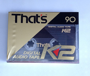 Кассета Digital Audio Tape That's K2 90