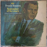 Пластинка Frank Sinatra ‎– September of My Years (1965, Reprise F 1014, Mono, USA)