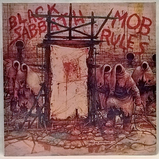 Black Sabbath And Dio ‎ (Mob Rules) 1981. (LP). 12. Vinyl. Пластинка. Santa Records.
