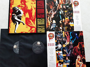 GUNS N'ROSES USE YOUR ILLUSION I 2 LP ( GEFFEN GEFF 24415 A2/B1/C1/D1 ) GUNS N'ROSES USE YOU