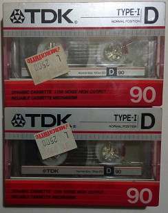 Аудиокассета TDK D 90 Type I (1985, Made In Japan)